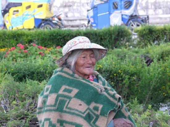 Chivay, Peru: Gli ultimi raggi di sole della giornata