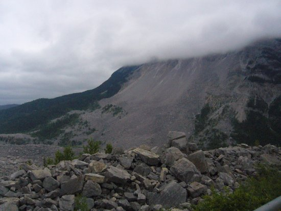 Crowsnest Pass, Canada: Frank Slide: La Turtle Mountain