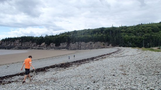 Waterside, Canadá: Barn Marsh Beach, just before Cape Enrage