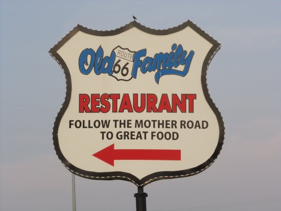 Sign old route 66 family restaurant dwight il