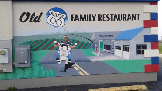Mural old route 66 family restaurant dwight il