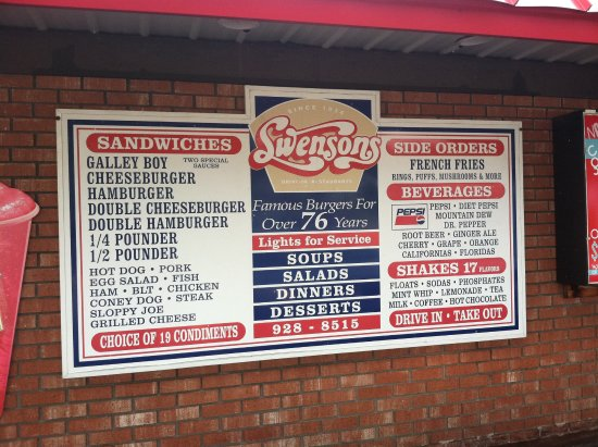 Swensons North Akron sign board