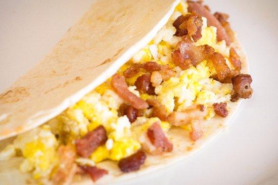 McKinney, TX: Egg and bacon Breakfast Taco