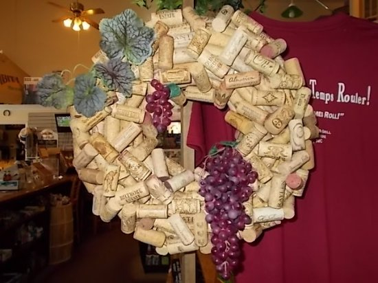 Banner Elk, Carolina del Norte: Locally-made Wine Cork Wreath