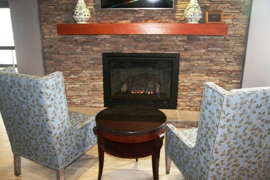 Sayre, PA: Lobby with Fireplace