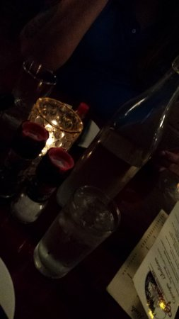 Atenas, GA: Table by Candlelight, Each Table Has Their Own Water Decanter (George's Lowcountry Table)