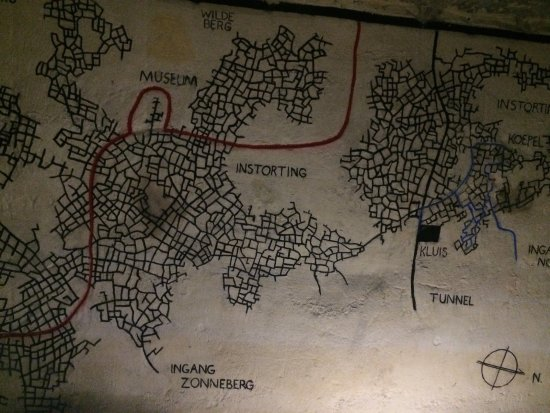 Map of the maze of tunnels Picture of Maastricht Underground