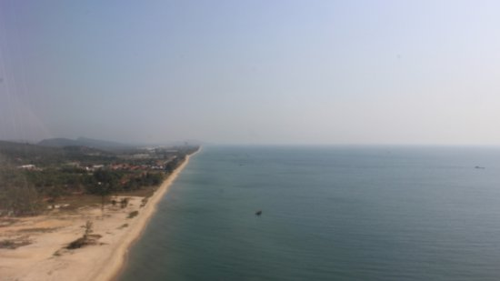 Phu Quoc Island, Vietnam: The Long beach while landing on the island