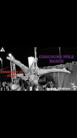 Villeneuve-Loubet, Frankrike: Concours de Pole Dance!!!!