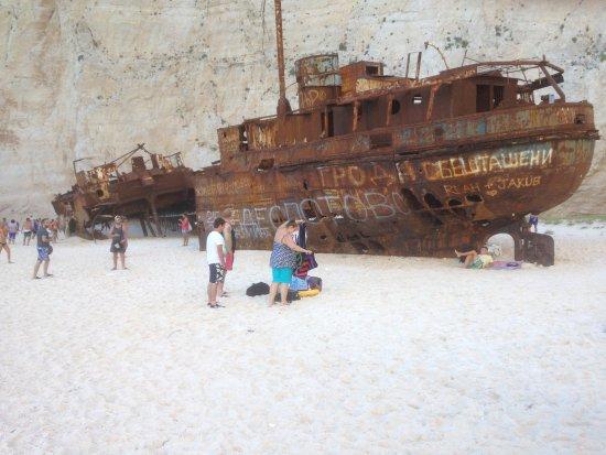 Bitzaro Palace Hotel: The shipwrecked MV Panagiotis at Navagio Beach which is a popular tourist destination