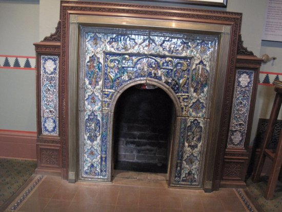 Hudson, État de New York : One of the many beautiful fireplaces
