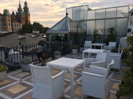 Hotel Copernicus: Aussicht aus dem Hotel Roof Garden