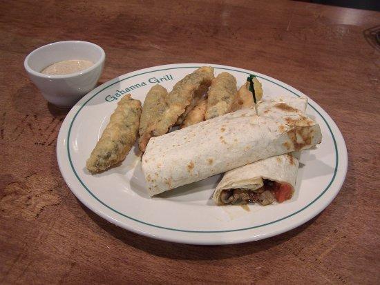 Gahanna, Οχάιο: Veggie Wrap with Fried Pickle Option