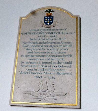Castletownshend, Ireland: memorial to Edith Somerville