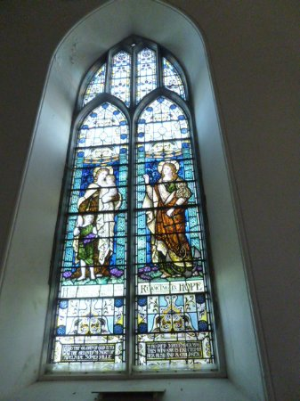 Castletownshend, Ireland: one of the colourful windows