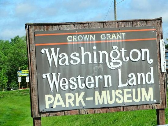 Washington's Western Lands Museum: sign on road