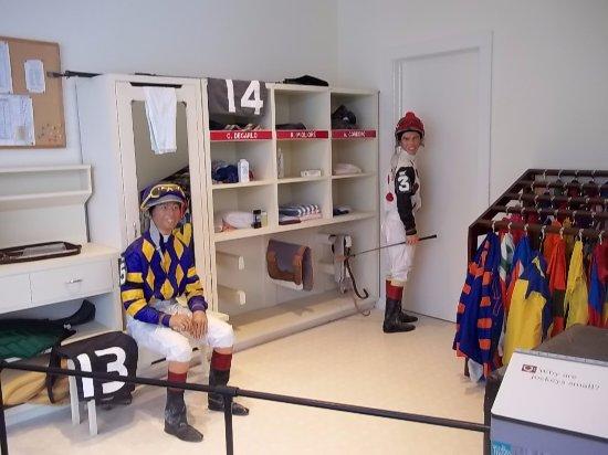 National Museum of Racing and Hall of Fame : Jockey's locker room.