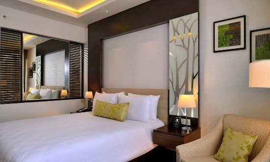 Hilton Garden Inn Gurgaon Baani Square India: View of the Guest room with King-size beds