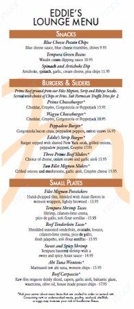 Eddie Merlot's Louisville : Lounge Menu