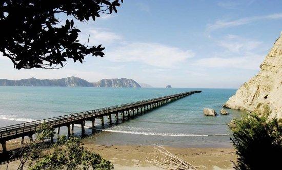 Gisborne, Selandia Baru: Tolaga Bay Wharf