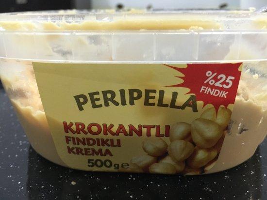 Basileus Otel: Hazelnut butter on the breakfast buffet.