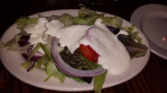 Jaeger's Seafood Beer Garden: side salad