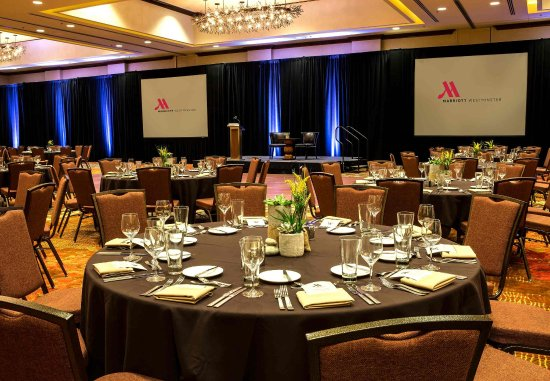 Westminster, CO: Marriott Ballroom - Banquet Setup