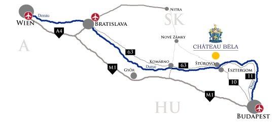 Chateau Bela: Location map