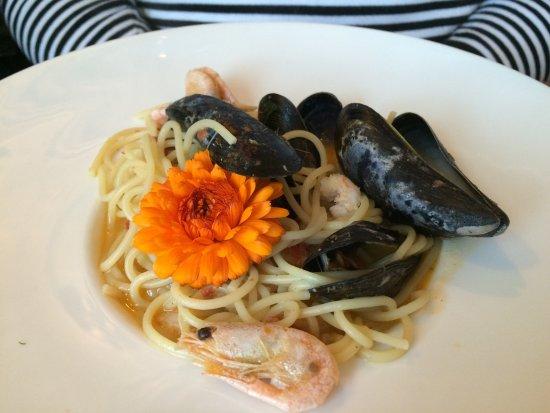 Stykkisholmur, Islandia: seafood spaghetti