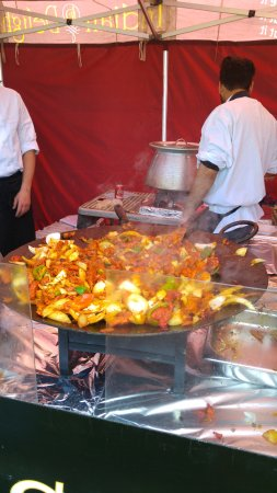 Northwich, UK : food stall