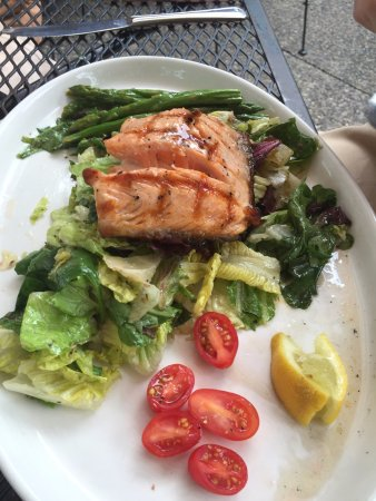 Hudson, WI : Salmon salad is flavorful and light.
