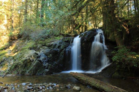 Halfmoon Bay, Canada: nearby hike and waterfall