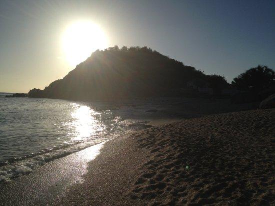 Shell Beach: por do sol