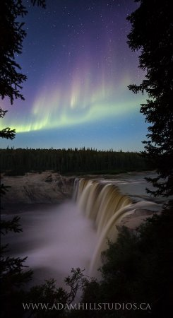 Aurora over Alexandra Fall -By Adam Hill Nature Photography(Hay River)