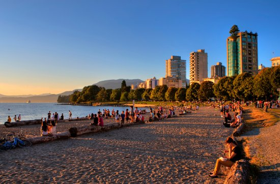 Vancouver, Canadá: English Bay at Sunset