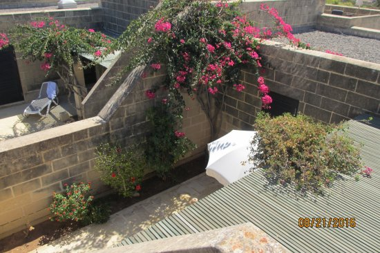 Mellieha Holiday Centre: Fine bungalows with a nice courtyard - picture taken from the roofterrasse