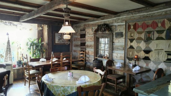 Inside Picture Of The Log House 1776 Restaurant Wytheville