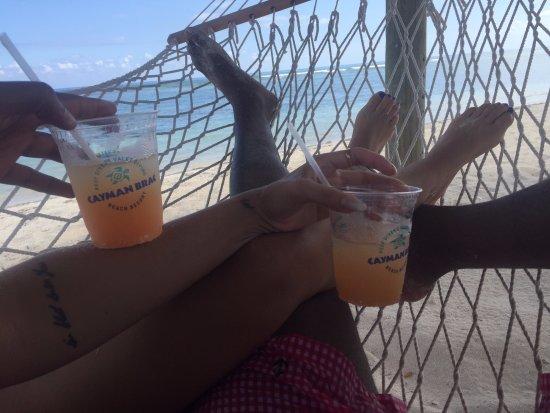 Cayman Brac: Relaxing in the Hammock on he beach...