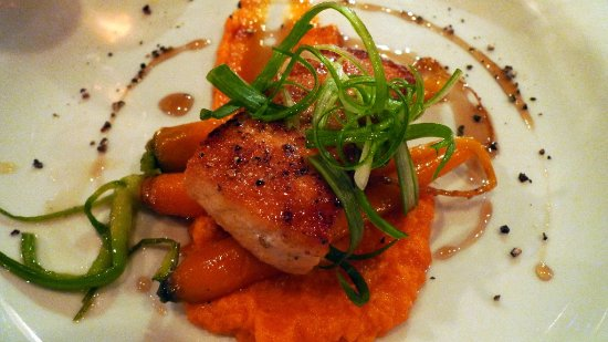 Monroe, MI: sockeye Salmon & sweet potato special, I personally don't eat Salmon but my friend told me it wa