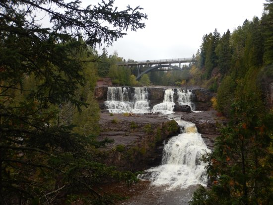 Two Harbors, MN: lower-middle falls