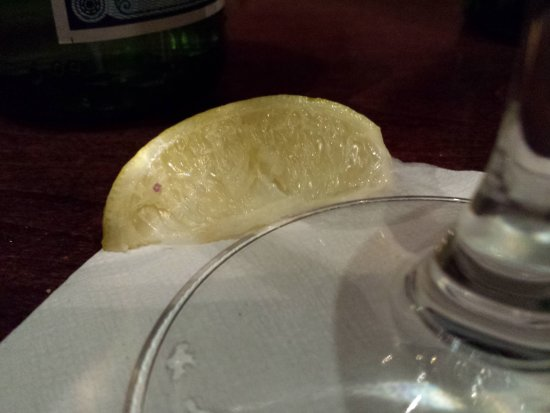 Brentwood, TN: the nasty sad little lime that came with my pelligrino