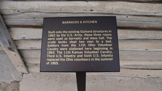 Fort Caspar Museum and Historic Site: Info About Barracks (Note Beds were built for 2 men)