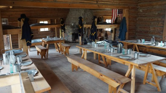 Fort Caspar Museum and Historic Site: Inside Barracks and dining area
