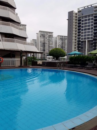 The hotel's swimming pool is not large but great for relaxing