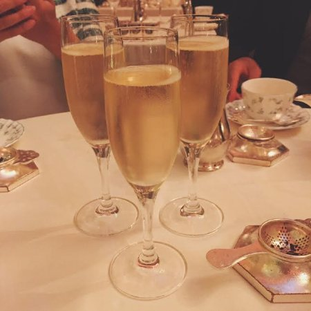 Tea at the ritz with champagne