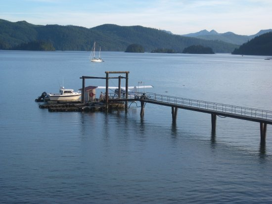 Queen Charlotte City, Canadá: Float plane dock.