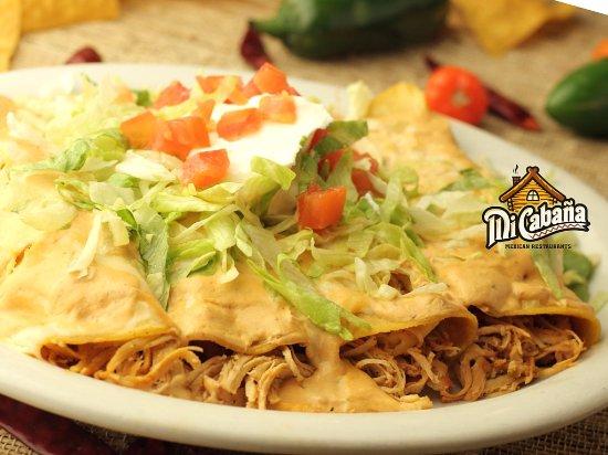 Jacksonville, NC: Enchiladas  - Mi Cabana Restaurant - Midway Park NC