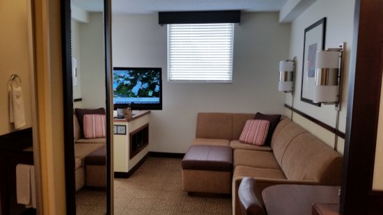 Hyatt Place Germantown: Living Room/Sofa Bed