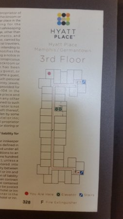 Hyatt Place Germantown: Room Map
