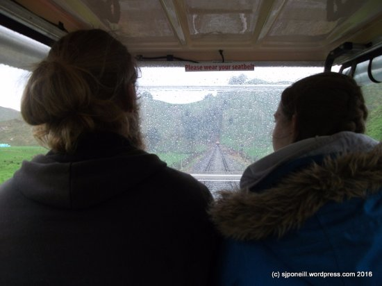 Taumarunui, Nieuw-Zeeland: View from the back seat